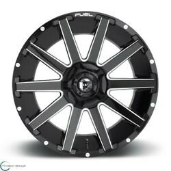Set Of 2 New Fuel Offroad Contra D615 22x10 8x165.1 -18 Gloss Black Milled