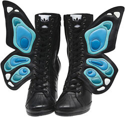 2012 Adidas Jeremy Scott Js Wings Wedge Butterfly Uk6 Us7,5 Boots G61078 Tongue