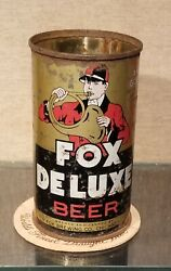 1930s Fox Deluxe Flat Top Beer Can Peter Fox Brewing Chicago Oi Irtp No Lid