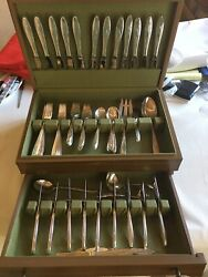 Awakening By Towle Sterling Silver Flatware Set, Service For 12, 68 Pcs