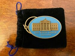 Nice President Barack And Michelle Obama Blue Key Fob/chain/ring Facsimile Signed