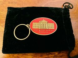 Nice President Barack And Michelle Obama Red Key Fob/chain/ring Facsimile Signed