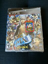 Persona 4 Arena Ultimax Ps3 Complete W/ Tarot Cards, Teddie Bop Bag Sealed