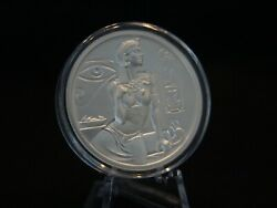 2 Oz .999 Silver Egyptian Gods Cleopatra Ultra High Relief Round