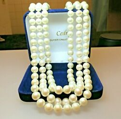 Collier Perles Naturelles / Pearl Necklace Of Three Ranks.