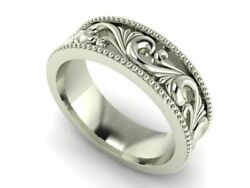 18k Ring Sold White Gold Ladies Jewelry Simple Filigree Design Gr20r