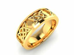 22k Ring Solid Yellow Gold Ladies Jewelry Modern Floral Insert Design Cgr2