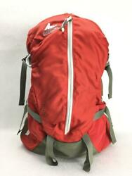 Gregory Orn Canvas Orange Fashion Back Pack 1244 From Japan