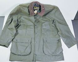 Vintage Deadstock 3 Crest Barbour Wax Northumbria Jacket C42 1990s New With Tag