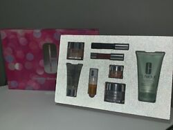 Clinique Best And Brightest Mascara/balm/moisture 8-pc Gift Box Set Free Us Ship