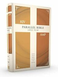 Kjv, Amplified, Parallel Bible, Large Print, Hardcover, Red Letter Two Bible…