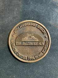 Baltimore Orioles Coin 40th Anniversary 1994 Home Schedule