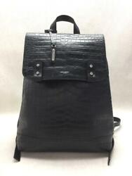 Saint Laurent 480585 18aw Embossing Lv Leather Black Back Pack From Japan