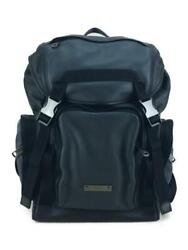 Coach Official Online Sold Out Color Block Leather Black Back Pack From Japan