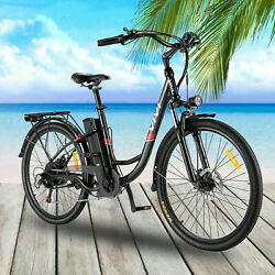 350w 26 Electric Bike 7 Speed Comfortable City Ebike Cruiser Commuter Bicycle