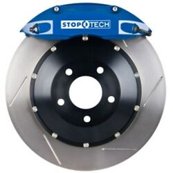 Stoptech 83-735470021 Front Big Brake Kit 355mm X 32mm 2 Piece Slotted Rotors Bl