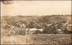 Enon Valley Pa Lawrence Co. Pennsylvania Elevated View Rppc Real Photo Postcard