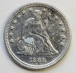 1888-s Liberty Seated Quarter Uncirculated