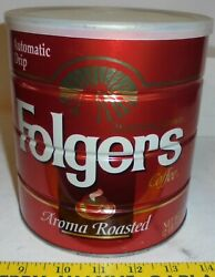Vintage Folgers Metal Coffee Can, 39 Oz.for All Coffee Makers Aroma Roasted
