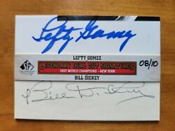 Hofers Lefty Gomez And Bill Dickey 2011 Sp Legendary Cuts Dual Autographs 8 Of 10