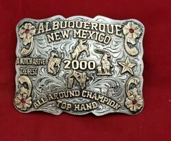 Rodeo Trophy Champion Buckle☆2000☆albuquerque New Mexico All Around Vintage 95