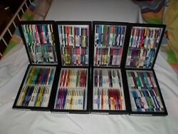 96 Vintage Bic Clic Pharmacy Drug Rep Pens Estate Collection In Glass Displays