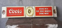 Vintage Coors Lighted Advertising Sign Clock