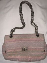 Auth Tweed Multi Pastel 2.55 Reissue Bag Pink Vtg Rare Late 90s As Is