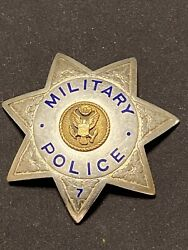 Original Wwii Us Army Mp Badge Military Police Irvine And Jachens