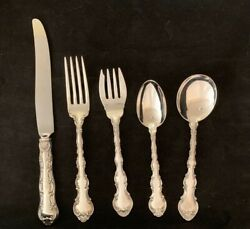 Strasbourg By Gorham Sterling Flatware Set For 8 By 5  40 Pieces