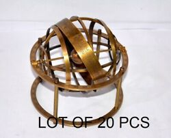 Collectible Antique Brass Lot Of 20 Pcs Astrolabe Globe Vintage Nautical Gift