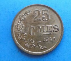 Luxembourg, 25 Centimes 1946, Great Condition.