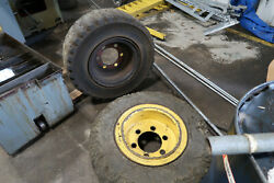 2 Solid Tire Forklift Wheels And Tires From Hyster S150a Forklift