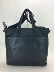 Prada 2way All- 2vg033 Possession There Leather Cowhide Black Tote Bag