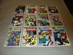The Punisher 1-12 1987 Series Marvel Comic Lot Of 12 Vf To Vf/nm Condition