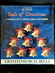 Vintage1991 Mr Christmas 10 Lighted Brass Bells Of Christmas Play 15 Songs Bells