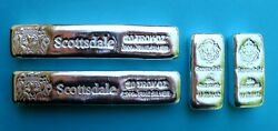 Special 2 X 20 Troy Oz And+ 2 X 10 Troy Oz = 60 Troy Ozs 999 Silver Sdmt Lc Bars