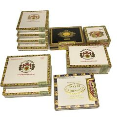 Empty Cigar Boxes Lot Of 10 Assorted Shapes And Sizes Macanudo