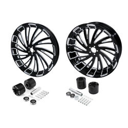 18'' Front And Rear Wheel Rim W/ Disc Hub Fit For Harley Touring Non Abs 2008-2021