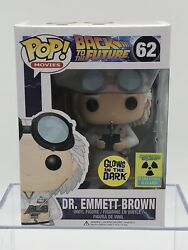 Funko Pop Movies Back To The Future Emmett Brown Glow Convention Exclusive Htf