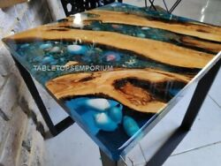 Epoxy Table Top Wooden Table Top Custom Epoxy River Table Top Resin Din Table