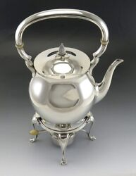 Antique C1925 Tuttle Paul Revere Sterling Silver Teapot Kettle On Stand