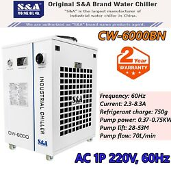 Cw-6000bn Industrial Water Chiller For 30w-300w Fiber Laser Cooling Cnc Spindle