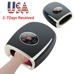 Fda Hand Massager Heat Air Compression Point Massage Cordless 3 Modes Tool Home