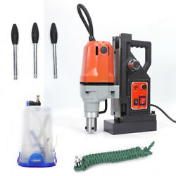 Md40 Magnetic Drill Press Machine Metal Drill Press Magnet Force Tapping Kit110v