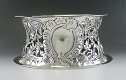 Antique 1902 English Sterling Silver Art Nouveau Dish/bowl Stand Or Ring 8.5