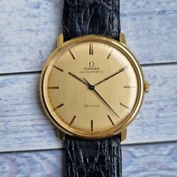 Vintage 18ct Solid Gold Omega De Ville With 18ct Solid Gold Dial
