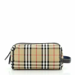 Burberry Cosmetic Pouch Vintage Check Canvas $564.00