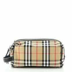 Burberry Cosmetic Pouch Vintage Check Canvas $450.00