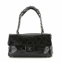 Day Glo Flap Bag Quilted Patent Medium
